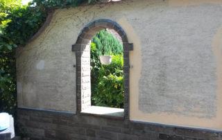 Wand vorher
