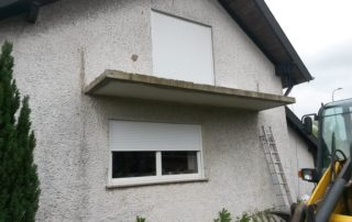 Mimbach Balkon - vorher