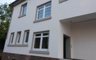 Schiffweiler Hausrenovierung Seite -nachher